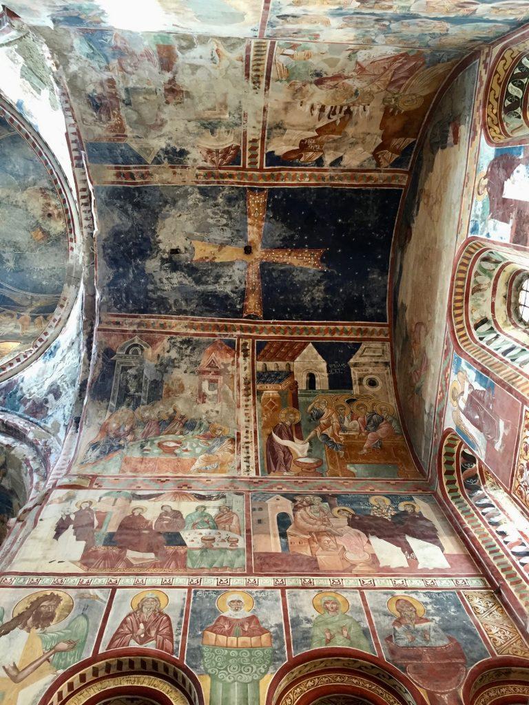 A ceiling at Gelati Monastery