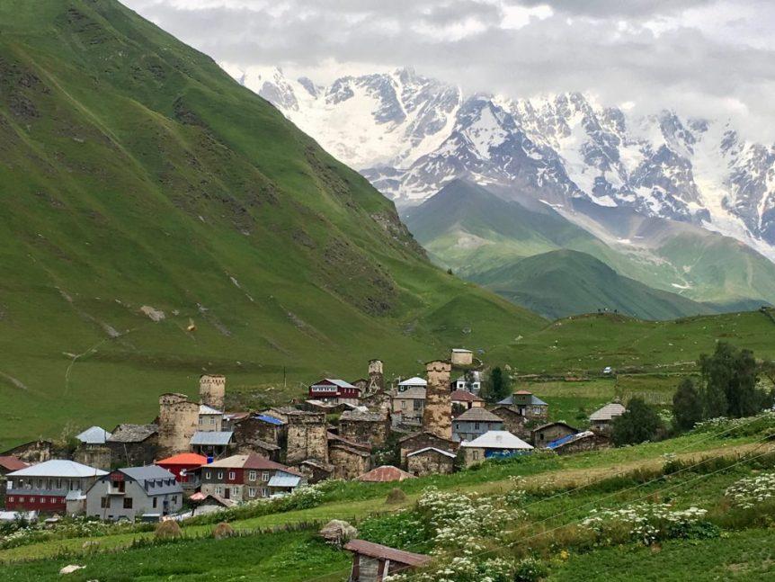 Ushguli, with its watchtowers and Mt. Shkhara