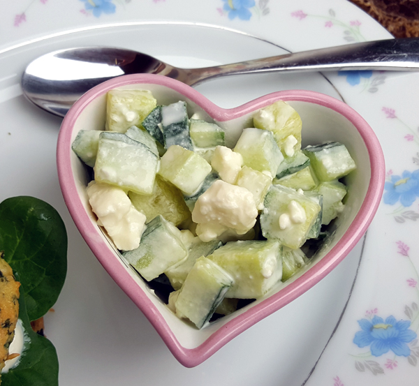Low Carb Cucumber Feta Salad