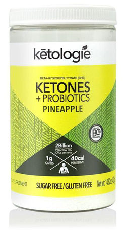 Ketologie Pineapple Probiotics Exogenous Ketone Supplement