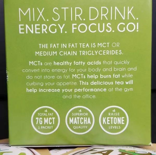 Fat Tea MCT Matcha - for a Ketone Fueled fix!