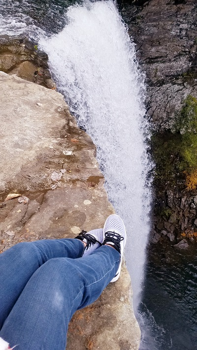 LowCarbTraveler at Ozone Falls - Keto Hiking, Lynn Terry