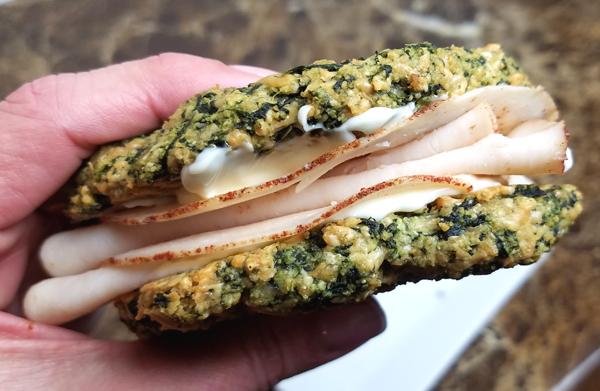Keto Sandwich on Spinach Bread