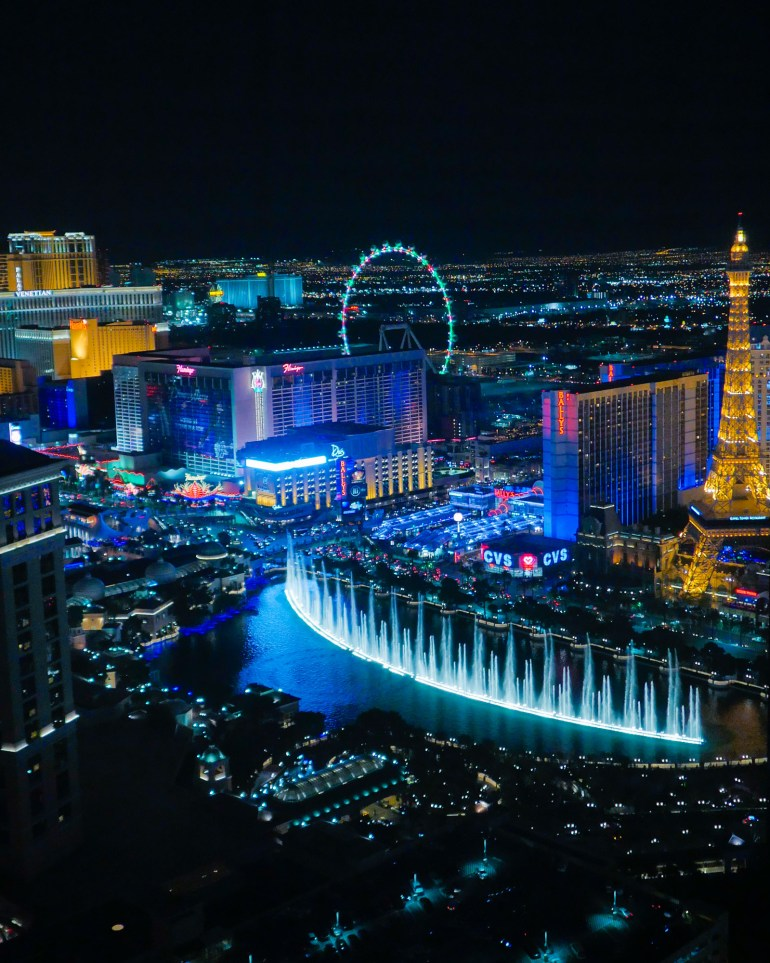 Bellagio Fountains | Instagram-Worthy Photos You'll Want to Take in Las Vegas w/ Captions | TravelingPetiteGirl.com | #lasvegas #instagram #travel #photography
