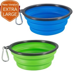 COMSUN 2-Pack Extra Large Size Collapsible Dog Bowl