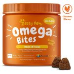 Zesty Paws Omega 3 shed control Chew Treats for Dogs