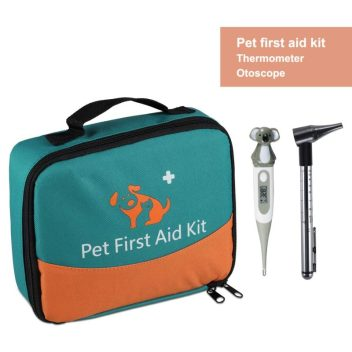 iCare-Pet Pet First Aid Kit with Thermometer & Veterinary Otoscope