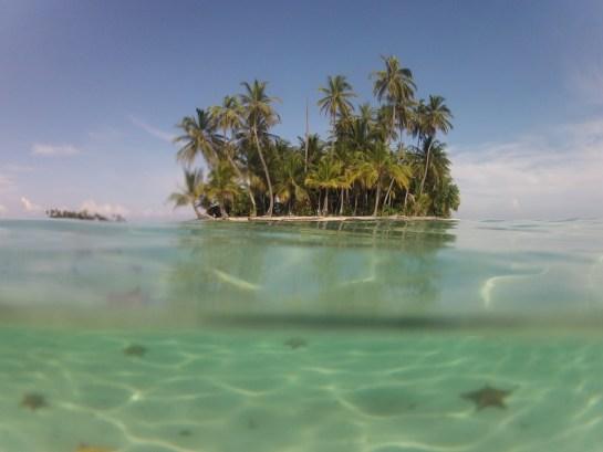 Blick beim Schnorcheln, San Blas Inseln