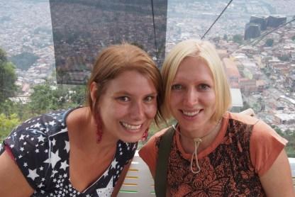 Mit Rianne und Sharon unterwegs in Medellin