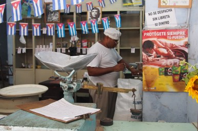 Essensausgabe in Havanna, Kuba