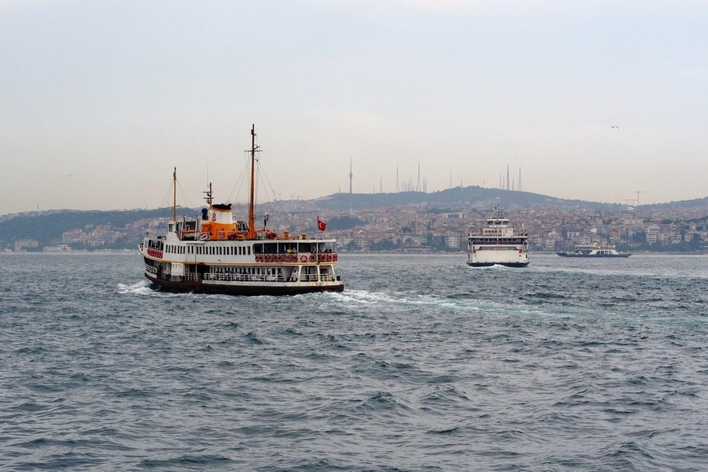 Fahrt auf dem Bosporus