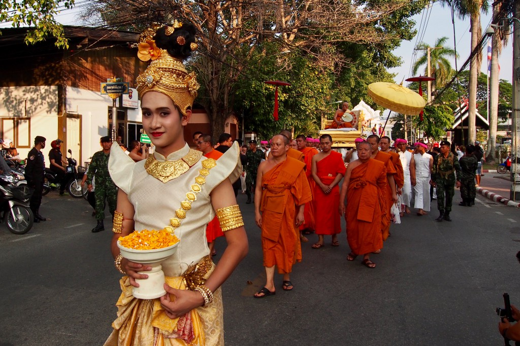 Strassenparade in Chiang Mai