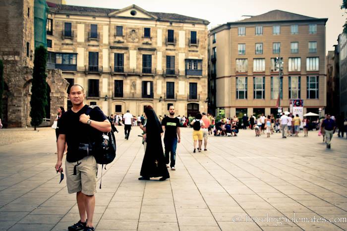 Sant Jaume Square, Gothic Quarter, Barcelona, Spain.