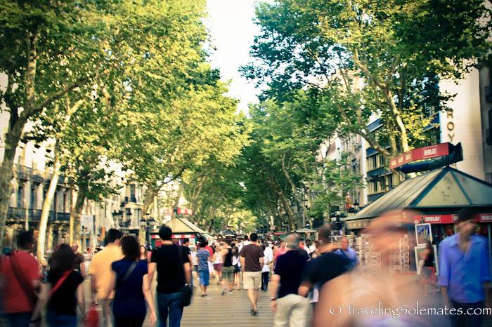 Las Ramblas, Barcelona, Spain