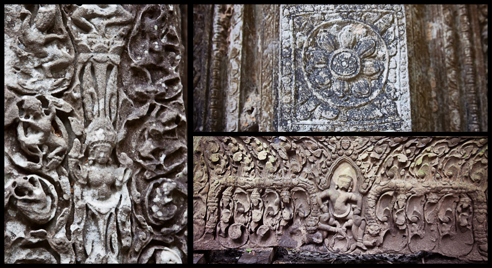 Carvings in Beng Mealea, Cambodia