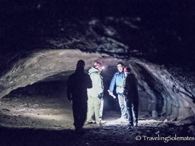 Lava Tube Caving in Leidarendi, Iceland-2