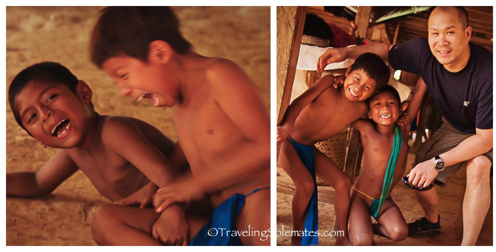 Embera Children, Embera Drua Village, Panama