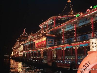 Jumbo Floating Restaurant at night, Hong Kong