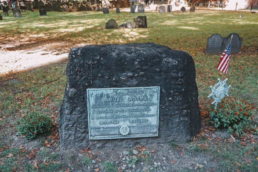 Sam Adams Headstone