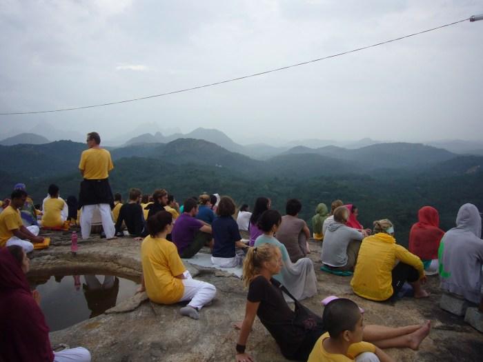 Meditation auf dem heiligen Berg