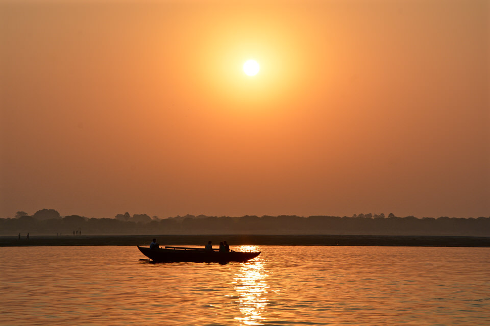 Fotoparade Varanasi Ganges Sunrise