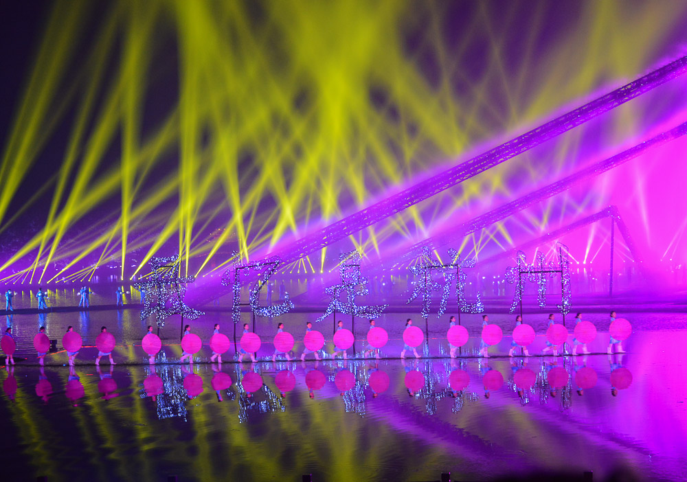 Traveling the World Reiseblog Fotoparade Lieblingsfotos Hanghzhou Lightshow