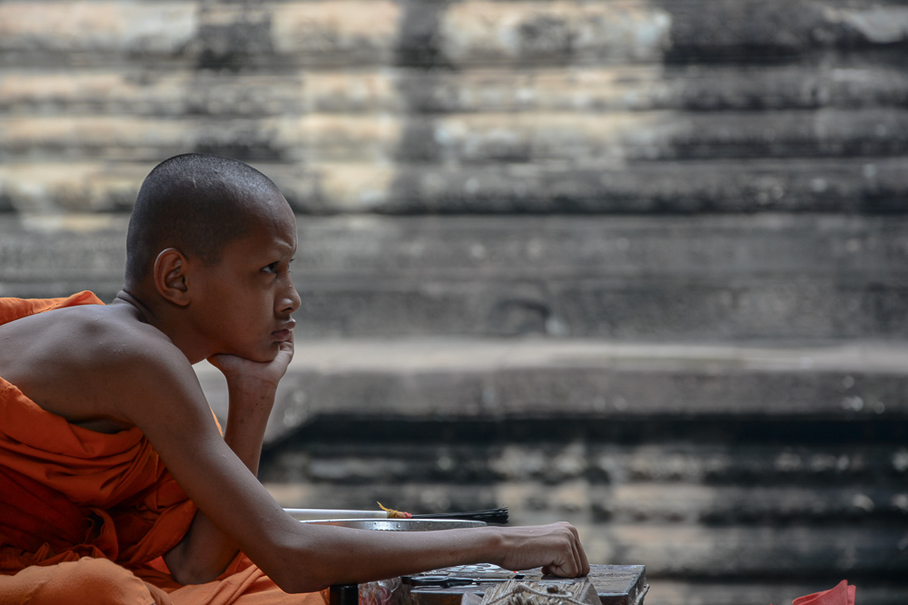 Traveling the World Reiseblog Fotoparade Lieblingsfotos Angkor Wat Monk