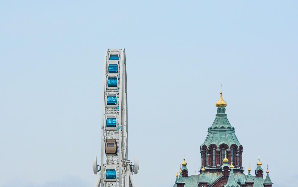 Traveling the World Tallink Silja Helsinki Sky Wheel Upsenki Cathedral