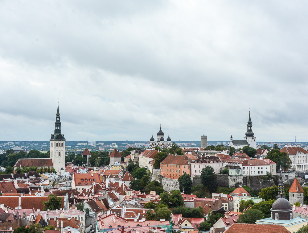 Traveling the World Tallink Silja Tallinn Old City View Olaf Church