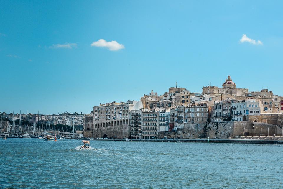 Traveling the World Malta Valletta Three Cities Skyline