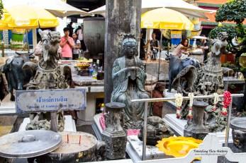 Statue of and shrine to the Goddess Kun Iam