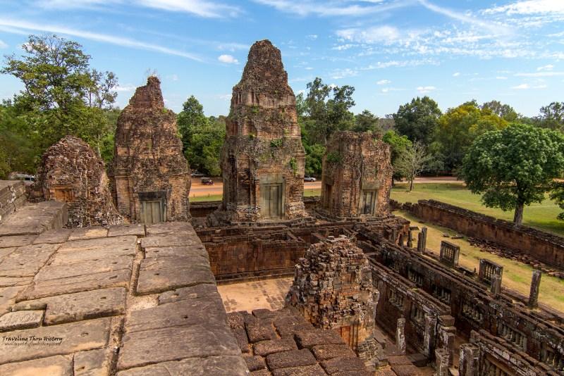 Pre Rup, Ruins, Angkor, Temple, Cambodia, Siem Reap, Khmer, Rajendravarman, pyramid, funeral, mausoleum, ancient