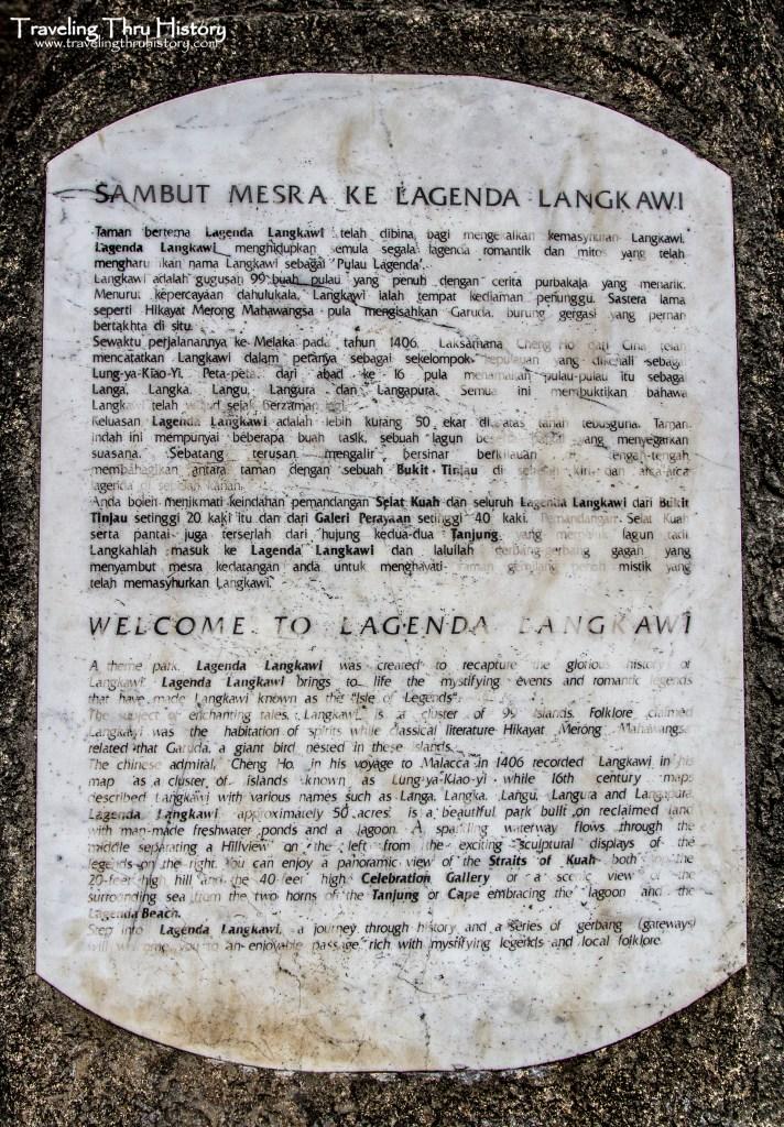 Lagenda Langkawi Dalam Taman is an open-air garden park museum in Kuah, Langkawi, Malaysia featuring 17 folklore sculptures.