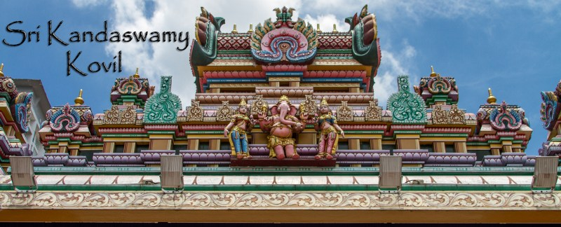 Sri Kandaswamy Kovil was built in 1902 to service the Ceylon Tamil Hindu Community and allow them to practice Saiva Siddhantha in Brickfields, Kuala Lumpur, Malaysia.
