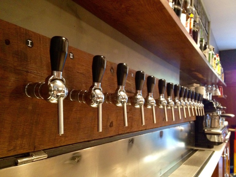 La Rovira tap line up-traveling to taste