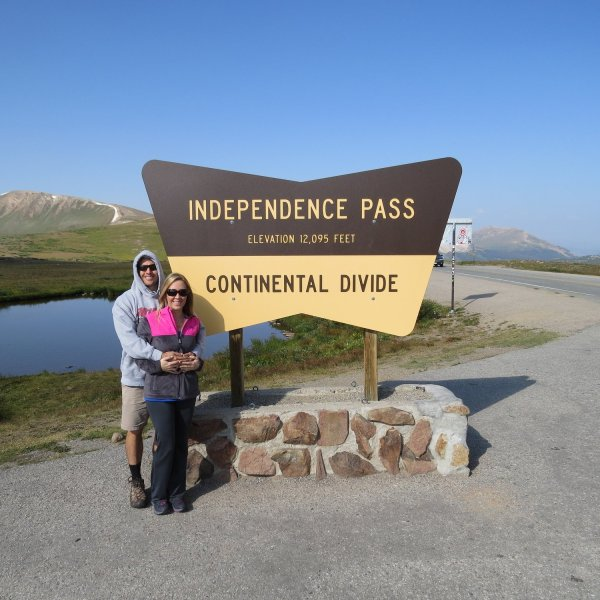 Here we are at the top of the Continental Divide on Independence Pass