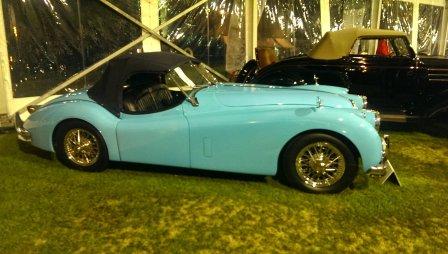 Antique Jaguar at Amelia Island Concours D'Elegance auction.