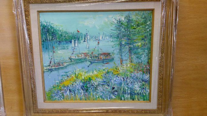 """Vail fine art """"Ile De Birchat"""" Yolande Adrissone."""