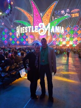 All smiles at WrestleMania 34