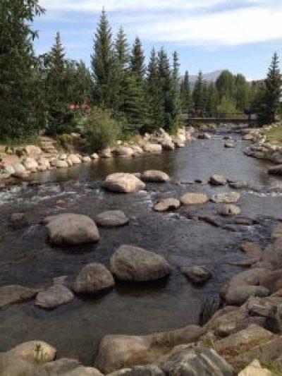 Blue River running through Breckenridge