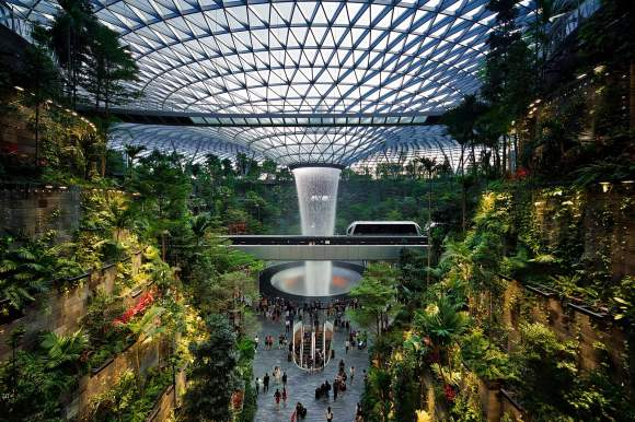 The Rain Vortex of the newly-constructed Jewel at Singapore Changi Airpot.