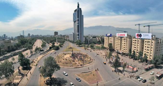 Plaza Italia, Santiago, Chile