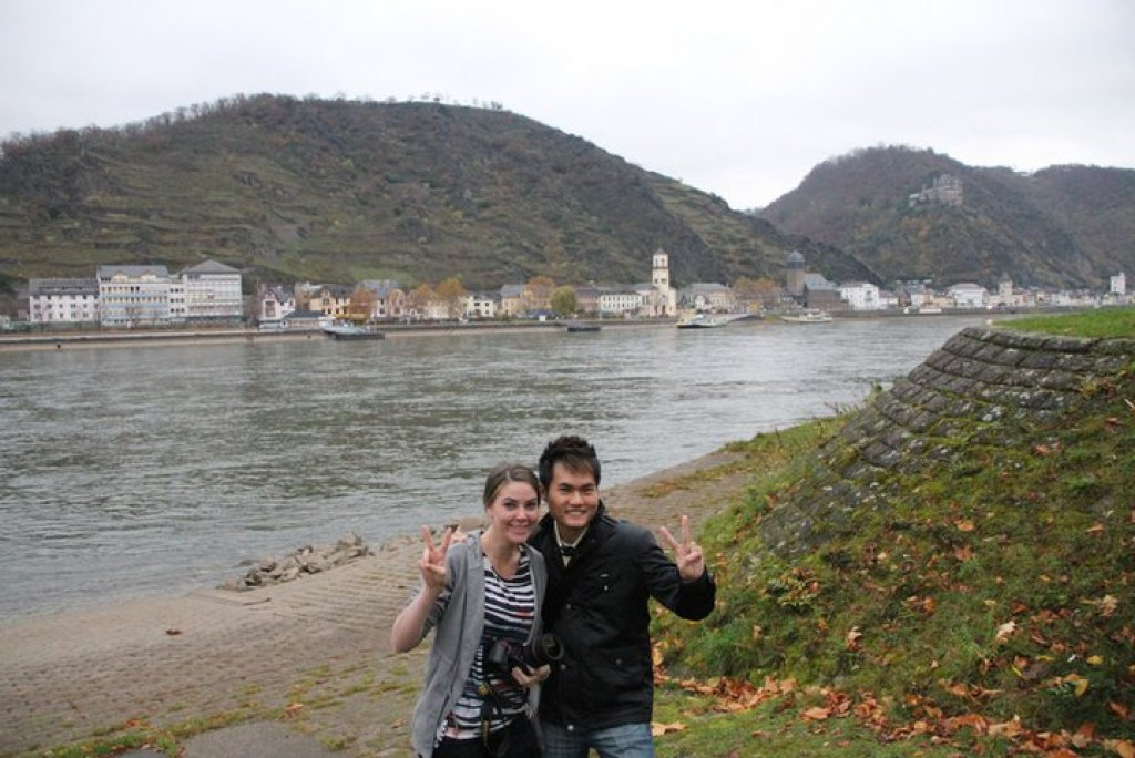 With Sommer (Aussie) in Germany