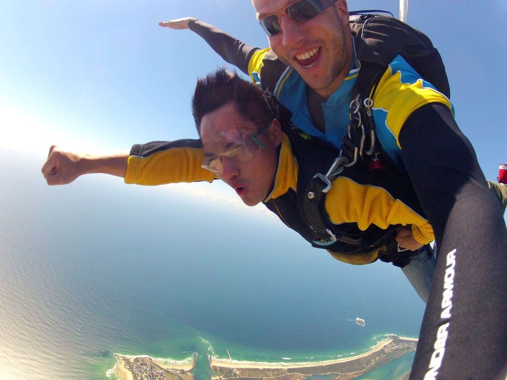 With Max (German Skydive Instructor) in Gold Coast, Australia