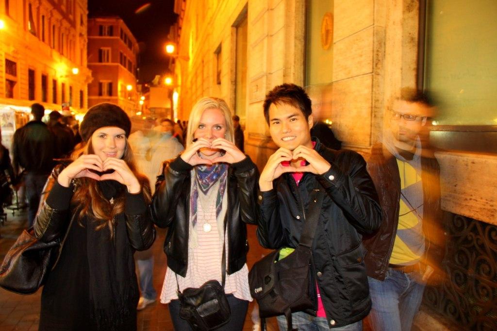 With Aussie Friends in Rome