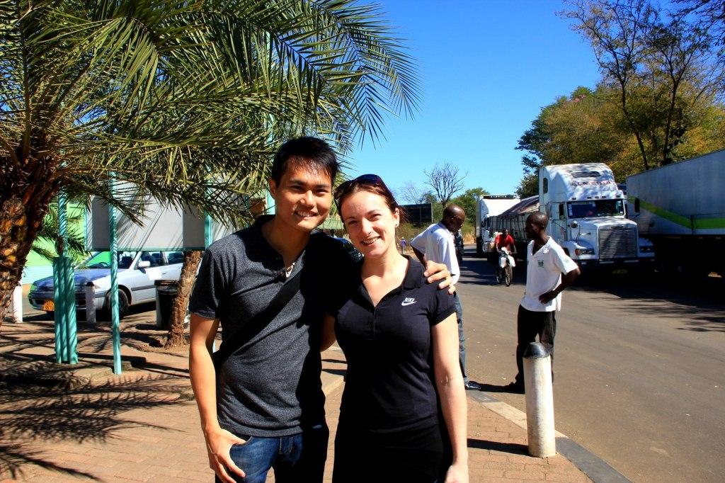 With Kat (British) in Zimbabwe