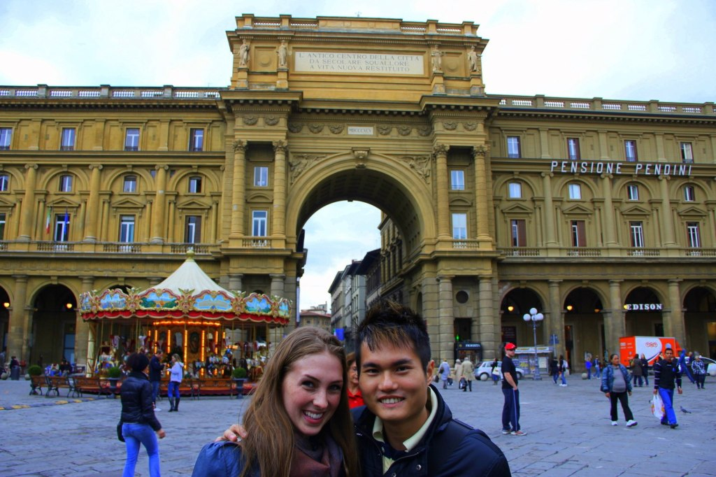 With Laura (Canadian) in Rome, Italy