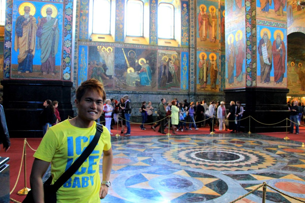 Amazing Sight of the Lavishing Interior of the Church of the Saviour on Spilled Blood