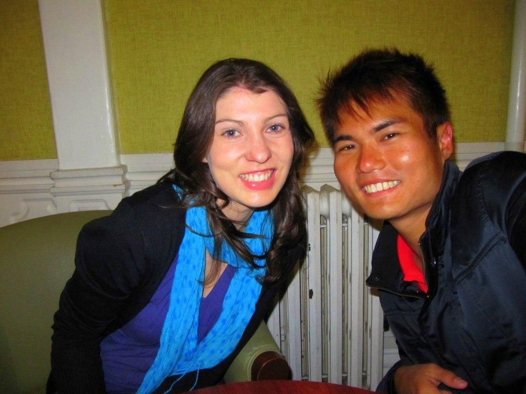 With Erin (New Zealander) in San Francisco Backpacker Hostel