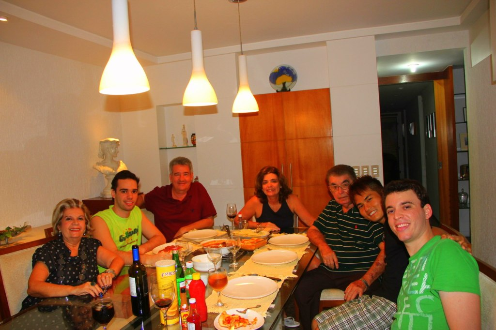 With Gustavo and family in Fortaleza, Brazil